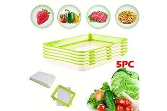 5pc protection de l'environnement protection contre la pollution bac de conservation des aliments sous vide vert