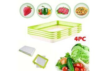 4pc protection de l'environnement protection contre la pollution bac de conservation des aliments sous vide vert