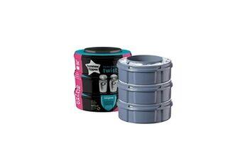 Tommee tippee - recharges poubelles twist & click x3 - compatibles avec bac tec