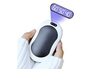 Shot Case Chauffe mains rechargeable batterie pour huawei p smart+ 2019 smartphone 5200mah usb chaufferette lumiere electrique