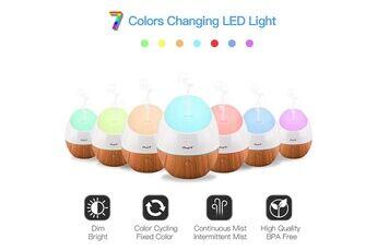Ckeyin Mini 120ml diffuseur d'huile essentiel humidificateur avec lampe de 7 couleurs sans eau arrêt automatique pour maison et bureau