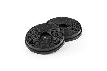 KLARSTEIN Victoria lot de 2 filtres à charbon actif pour hotte aspirante - ø 17,5cm - recyclage d'air - noir