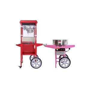 Kukoo Machine à barbe à papa et machine à pop-corn avec chariots
