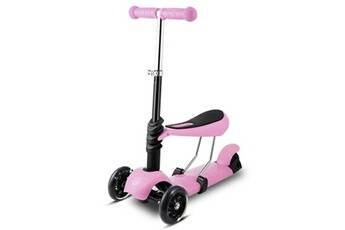 ancheer trottinette enfant à 3 roues avec poignée réglable t-bar violet