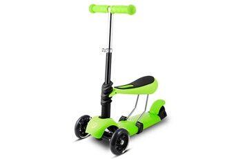 ancheer trottinette enfant à 3 roues avec poignée réglable t-bar vert