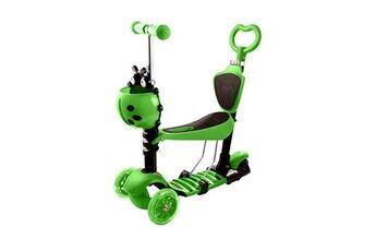 ancheer trottinette enfant à 3 roues avec roues led vert
