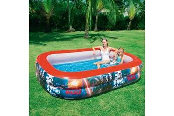 bestway piscine gonflable rectangulaire 262x175x51cm star wars