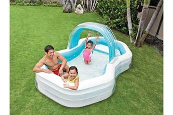 intex piscine gonflable octo + ombrelle amovible