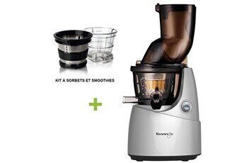 Kuvings Pack promo kuvings b9700 gris + kit à smoothies et sorbets - extracteur de jus vertical