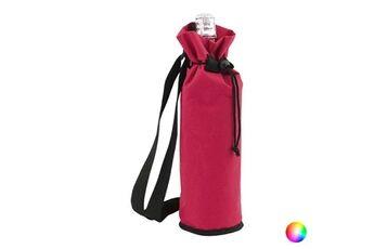 Euroweb Sac glacière bouteille avec fermeture réglable 1,5 l - sac pour gourde isotherme couleur - noir