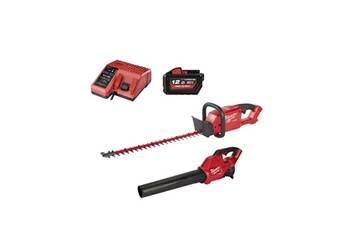 Milwaukee Pack milwaukee fuel m18 souffleur fbl-0 - taille-haies cht-0 - batterie 18v 12.0ah - chargeur m12-18c
