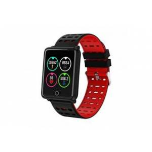 Dealstore Montre connectée sport , bracelet intelligent b4 pour iphone et android-rouge
