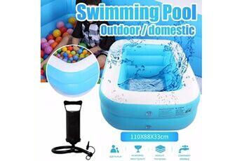 Pataugeoire enfants inflation famille piscine gonflable bébé océan boule de sable baignoire jouets carré @he164