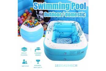 Pataugeoire enfants inflation famille piscine gonflable bébé océan boule de sable baignoire jouets carré @he170