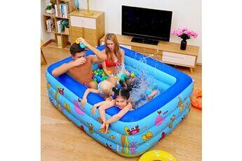 Pataugeoire enfants inflation famille piscine gonflable bébé océan boule de sable baignoire jouets carré @he2855
