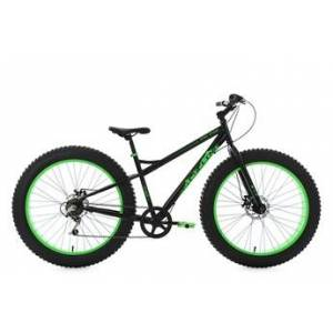 KS Cycling Vtt fatbike 26'' snw2458 noir-vert tc 43 cm ks cycling