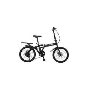 Installation libre de voyage adulte de vélo pliant à vitesse variable de 16 pouces noir