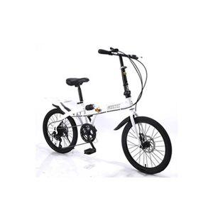 Installation gratuite de voyage adulte de vélo pliant à vitesse variable de 16 pouces blanc