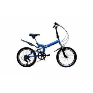 20 pouces mini-vélo pliant léger petit vélo portable étudiant adulte bleu
