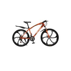 Generic Outroad mountain bike 21 vitesses 26 pouces vélo pliant double frein à disque vélos orange
