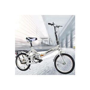 20 pouces mini-vélo pliant léger petit vélo portable étudiant adulte blanc