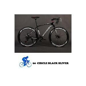 Generic Vélo de montagne de vélo pliable 26 pouces en acier 21 vitesses vélo double frein à disque noir et argent