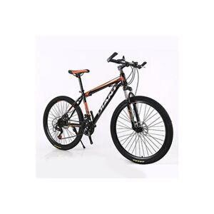 Vélo de montagne de vélo pliable 26 pouces en acier 21 vitesses vélo double frein à disque orange