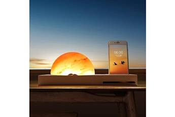 Generic Méditation ambiante himalaya lampe de sel avec chargeur sans fil amplificateur audio ampoule led