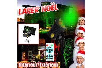 BeamZ Lasers Noël extérieur intérieur Décoration éclairage Projecteur Rouge Vert IP65 effet ciel étoilé