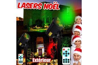 BeamZ Lasers d'extérieur Décoration Noël éclairage Projecteur Rouge et Vert IP65 effet ciel étoilé