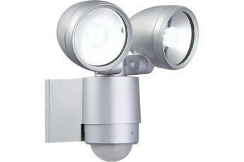 icaverne lampadaire de jardin - lampe de jardin projecteur extérieur aluminium fonte gris métallisé - verre translucide