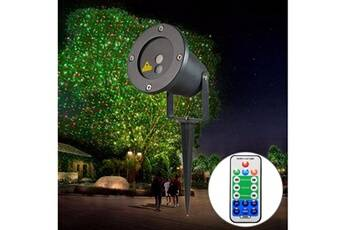 Prixwhaou Extérieur laser-godf-100rg 5w étanche étoiles motif en plein air pelouse jardin jardin décoratif lampe de projecteur laser avec télécommande