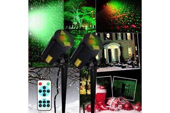 BeamZ 2 projecteurs led noël éclairage projecteurs rouge et vert ip65 effet ciel étoilé outdoor
