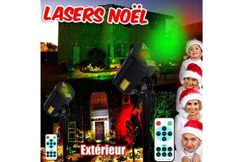 BeamZ Lasers d'extérieur décoration noël éclairage projecteurs rayons rouge et vert ip65 effet ciel étoilé