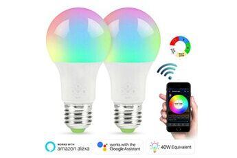 Ampoule led intelligente ampoules wifi lampe pour google home / alexa / ifttt 3pc blanc