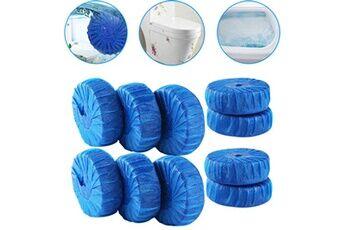 Generic 10 pcs magique automatique chasse d'eau nettoyant nettoyant détachant comprimé bleu réservoir de chasse d'eau chaingzi 4245