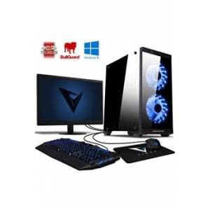 "Vibox Killstreak gs530-25 pc gamer ordinateur,, windows 10 os, 22"" écran (4,0ghz ryzen quad-core, nvidia geforce gt 730 carte graphique, 8gb ram, 1tb hdd)"