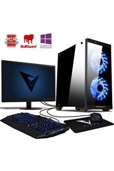 "Vibox Killstreak rs760-50 pc gamer ordinateur, 2 jeux gratuits, win 10 pro, 22"" écran (4,0ghz intel i5 6-core, nvidia gtx 1050 ti, 16gb ram, 1tb hdd)"