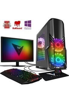 """Vibox Killstreak gs780-270 pc gamer ordinateur, 2 jeux gratuits, win 10 pro, 22"""" écran (4,0ghz intel i5 6-core, nvidia rtx 2070, 16gb ram, 1tb hdd-ssd)"""