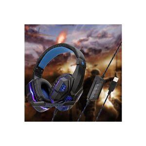 Generic Casque de jeu usb over-ear stéréo microphone pour casque de jeu pour n-switch hensiluse 23