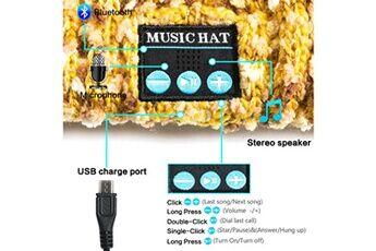 Shot Case Bonnet bluetooth avec pompon pour nokia 2.1 smartphone avec ecouteurs integres reglage boutons universel hiver