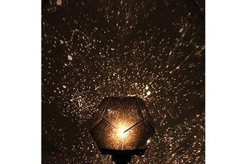 Projecteur polygonal étoile des quatre saisons très rêveur planétarium romantique avec des effets d'éclairage magiques -jaune