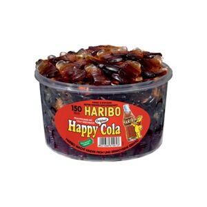 Haribo     harbio bonbons gélifiés aux fruits happy cola, boîte de 150     noir