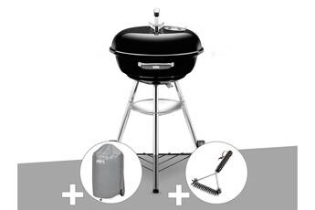 weber barbecue weber compact kettle 47 cm + housse + brosse