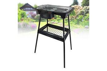 triomph barbecue électrique sur pieds ou sur table - triomph etf1526 - 2000w - intérieur et extérieur