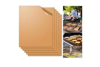 Justgreenbox Tapis à griller antiadhésif pour le barbecue doublures de cuisson pour le barbecue feuilles de cuisson réutilisables plaque à pâtisserie en ptfe