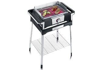 severin barbecue électrique sur pieds 3000w noir/inox - severin - pg8117