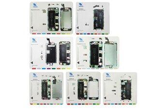 Prixwhaou Rondelle à vis-tapis à vis magnétique 7 en 1 pour iphone 6s / iphone 6 plus / iphone 6 / iphone 5s / iphone 5 / iphone 4s / iphone 4