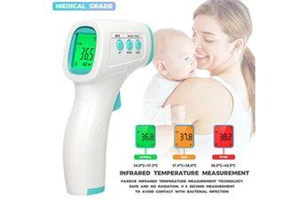 thermomètre infrarouge à main sans contact lcd digital température corporelle / température de surface