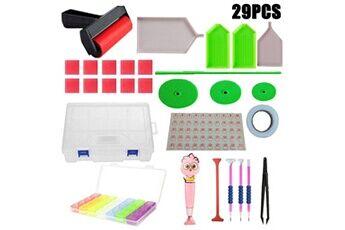 29pcs 5d diy diamant peinture outil boîte à outils artisanat ensemble